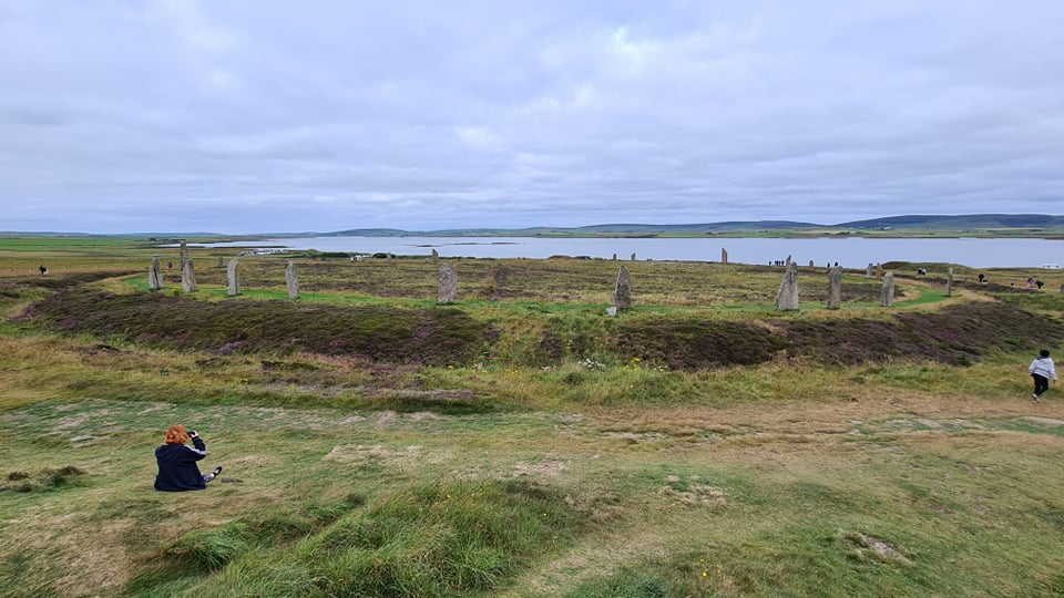 A wide frame shot of the stone circle