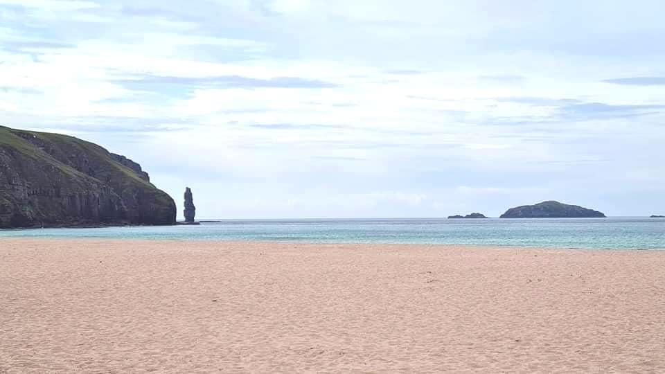 A beautiful blue beach
