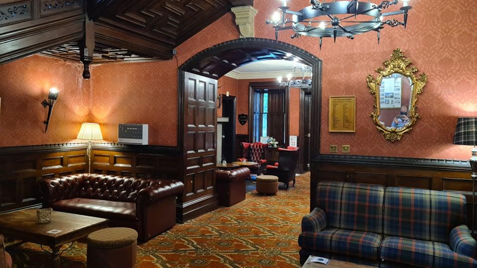 A lush room inside a castle